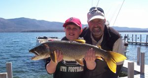 What's the biggest fish you ever caught on Lake George?