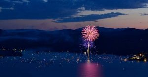 FIREWORKS tonight at 8:30 in the village!