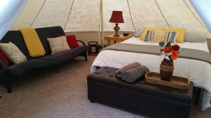 Glamping is one of the most comfortable ways to camp!